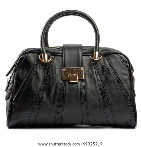 Black female bag - stock photo
