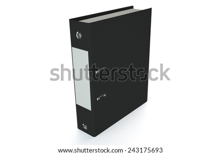 black folder isolated on white background - stock photo