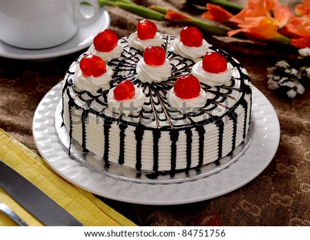 Black Forest Cheese Cake - stock photo