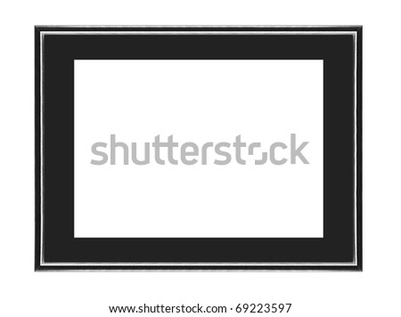 black frame - stock photo