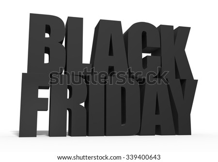 Black Friday - stock photo