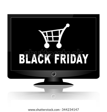 Black friday online - stock photo