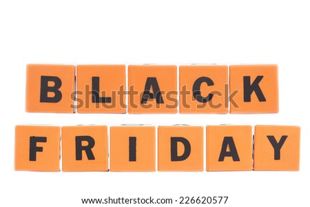 Black Friday sale - holiday shopping concept  - stock photo
