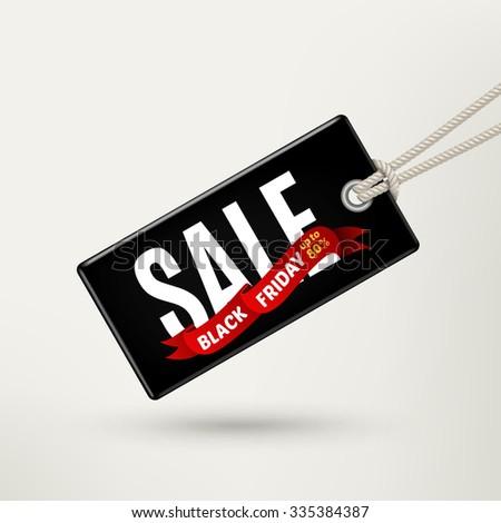 Black Friday sales tag. Rasterized Copy - stock photo
