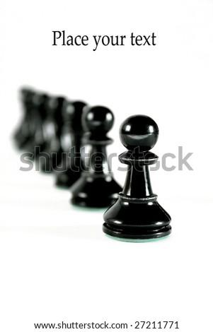 black game pieces - stock photo