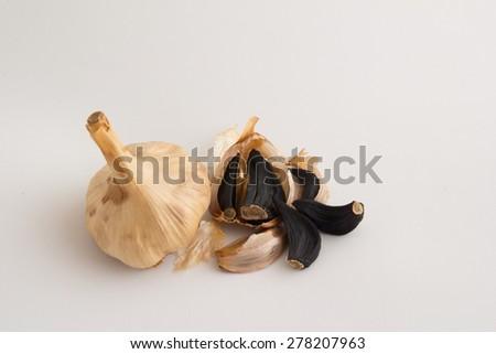Black garlics 10 - stock photo