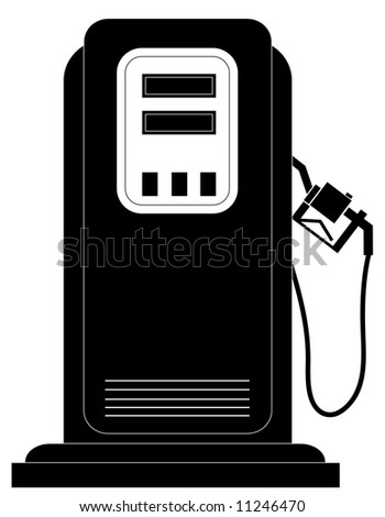 black gas or fuel pump silhouette - stock photo