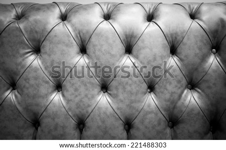 Black Genuine leather  sofa abstract background - stock photo