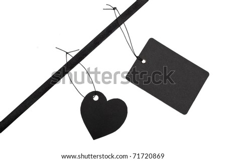 Black gift tags - stock photo