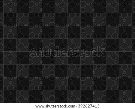 black grey circle shapes, pattern abstract background - stock photo