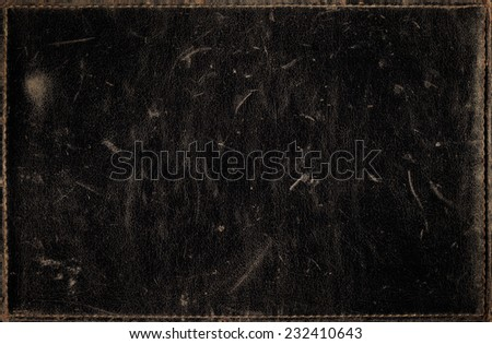 Black grunge background from distress leather texture  - stock photo