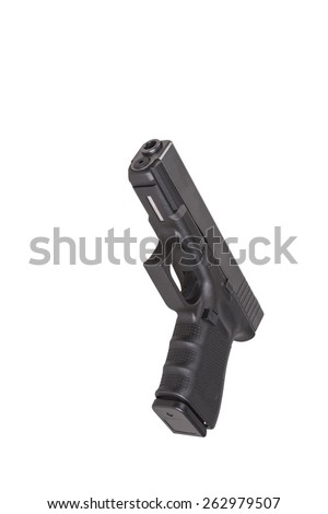 black gun - stock photo