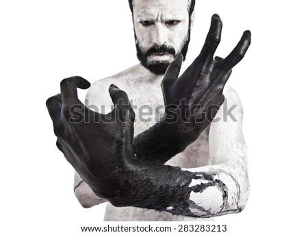 Black hands - stock photo