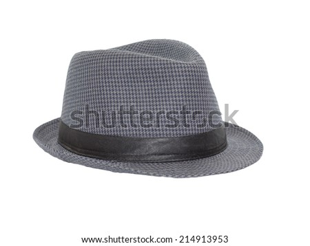 black hat on white background - stock photo