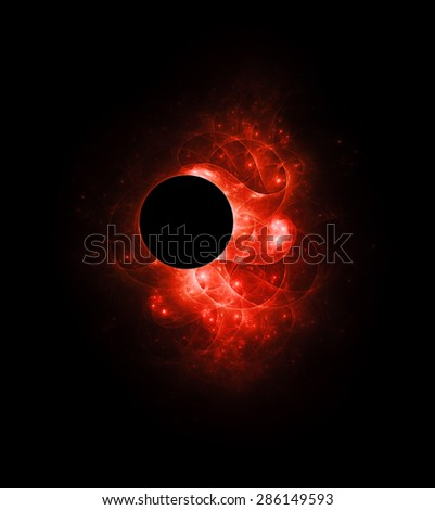 Black Hole abstract illustration - stock photo
