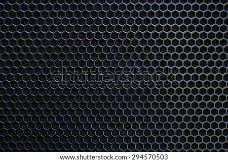 Black Honeycomb Abstract Background - stock photo