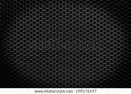 Black iron hexagonal texture. Industrial background  - stock photo