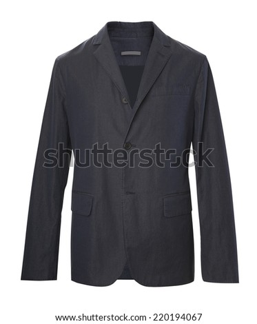 black jacket isolated on white - stock photo