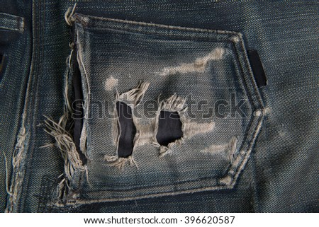 Black jeans pocket - stock photo