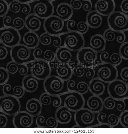 black jeans seamless background with  swirls - stock photo