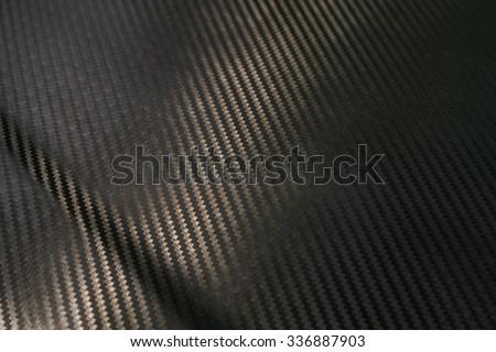 Black kevlar texture for stronger but lightweight - stock photo