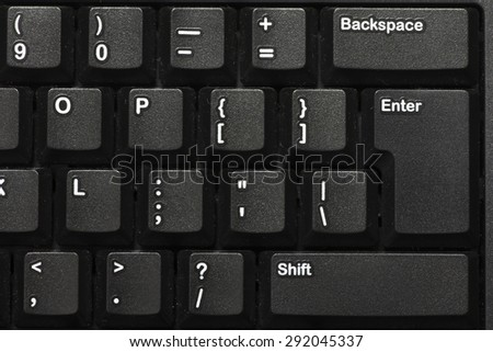 Black keyboard closeup - stock photo