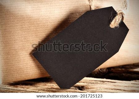 black label  - stock photo