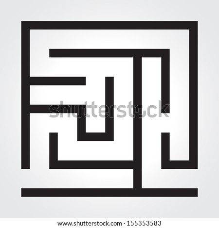 Black labyrinth. Business concept. This is raster version. - stock photo