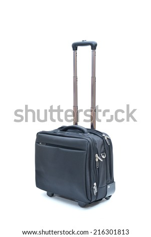 black  laptopbag isolated on white background - stock photo