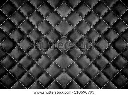black leather background - stock photo