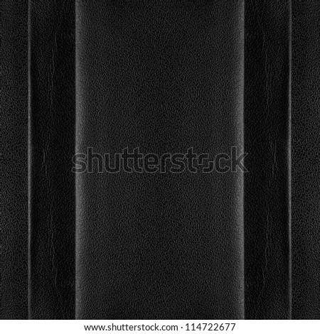 black leather background, abstract organic texture with margins - stock photo