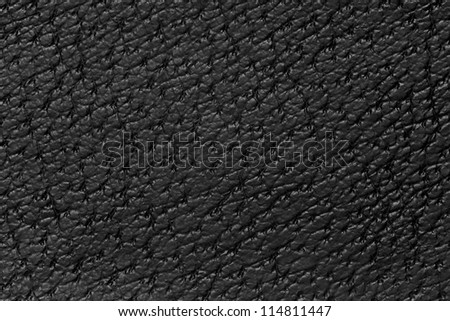 black leather background, cowhide pattern grey texture - stock photo