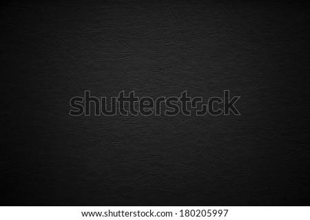 Black leather bckground. / Black Leather. - stock photo