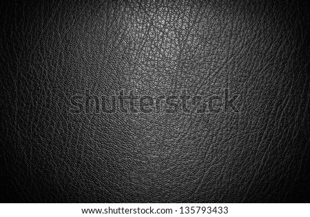 Black leather for texture background from car seats - stock photo