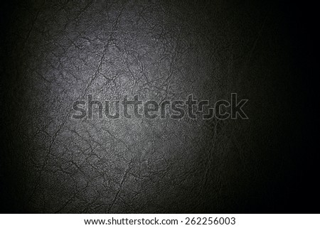 Black leather for texture background from Office Chair - stock photo