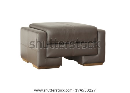 Black leather sitting isolated on white background with clipping paths - stock photo