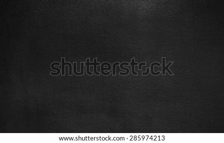 Black  leather texture background - stock photo