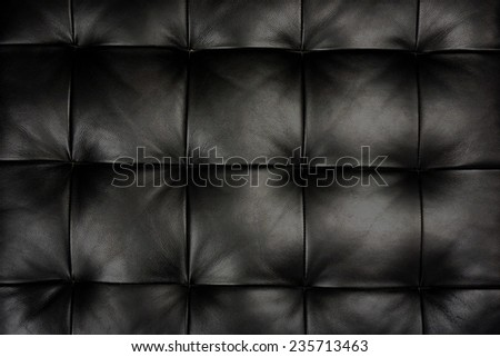 Black leather texture decorate background - stock photo
