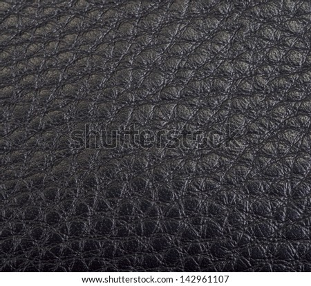 black leather texture on a background - stock photo