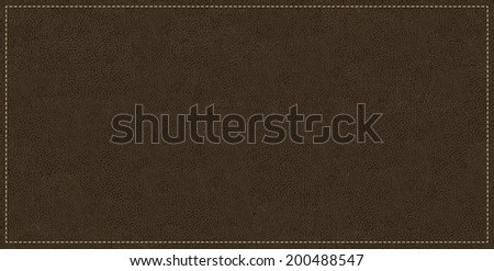 black leather texture tile background - stock photo
