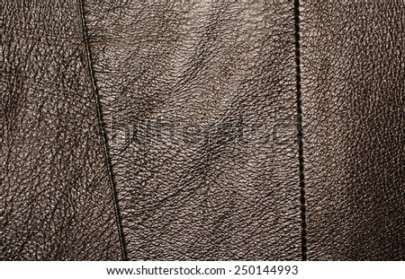 Black leather texture with strips - stock photo