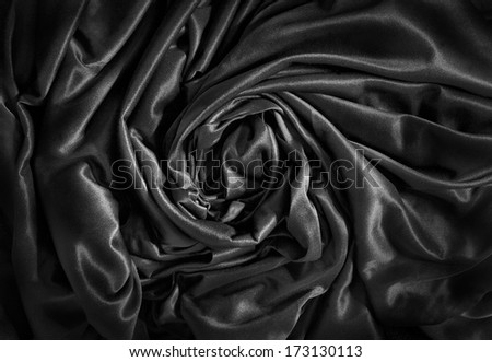 black luxurious  satin cloth background  - stock photo