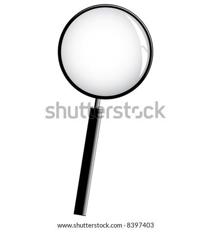Black Magnifier - stock photo