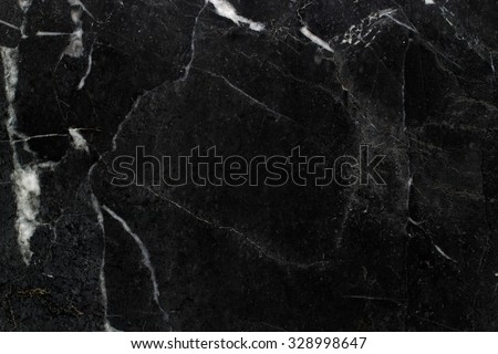 Black marble natural pattern - stock photo