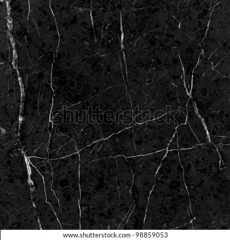 Black marble texture. (High.Res.) - stock photo