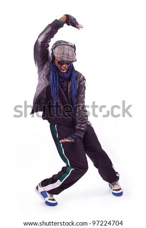 black men dancing - stock photo