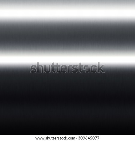 black metal background texture horizontal lines of light, subtle seamless pattern - stock photo