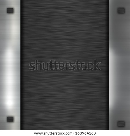 black metal banner - stock photo