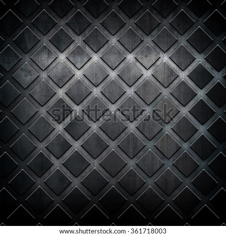 black metal grid background - stock photo