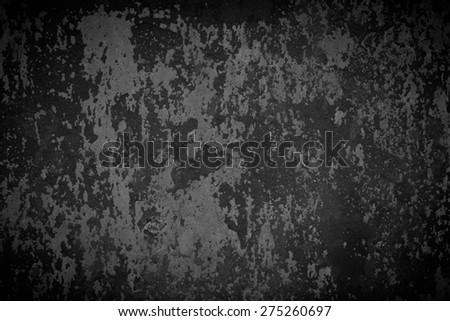 Black Metal Wall - stock photo